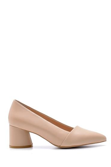 Kahverengi Kadın Deri Topuklu Ayakkabı 5638161220
