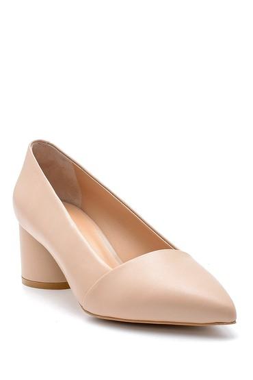 Vizon Kadın Deri Topuklu Ayakkabı 5638161220