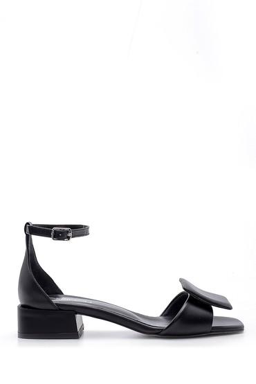 Siyah Kadın Deri Sandalet 5638161728