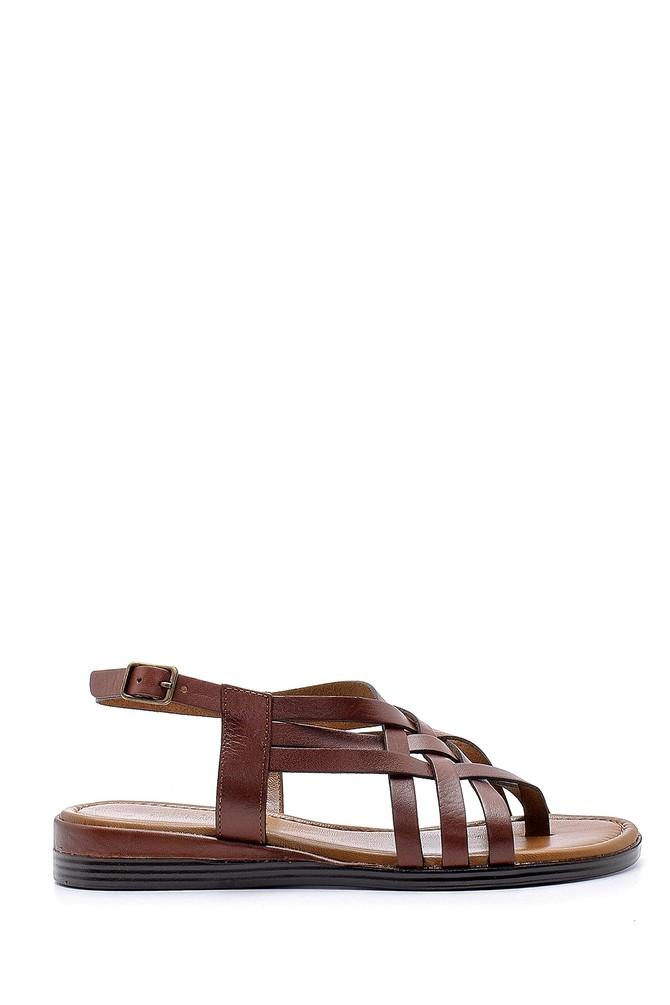 Kahverengi Kadın Deri Sandalet 5638161524