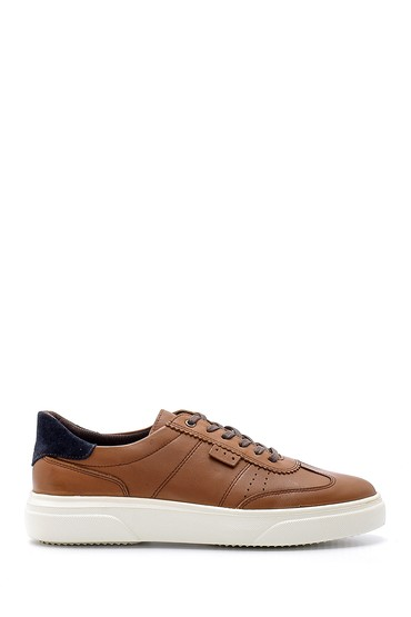 Kahverengi Erkek Deri Sneaker 5638135405