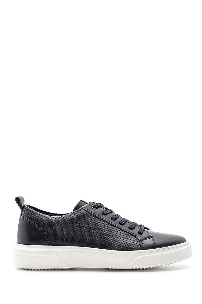 Siyah Erkek Deri Sneaker 5638135476