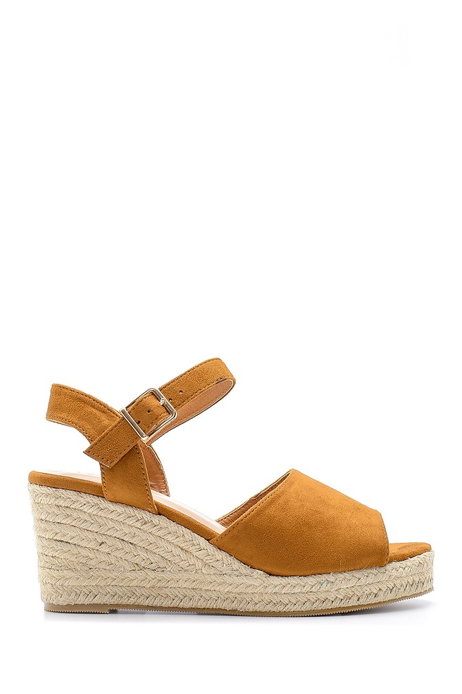 Taba Kadın Dolgu Topuklu Sandalet 5638136029