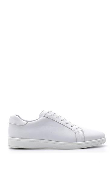 Beyaz Erkek Deri Sneaker 5638159187
