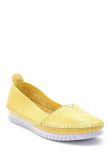 Sarı Kadın Deri Ayakkabı 5638151752