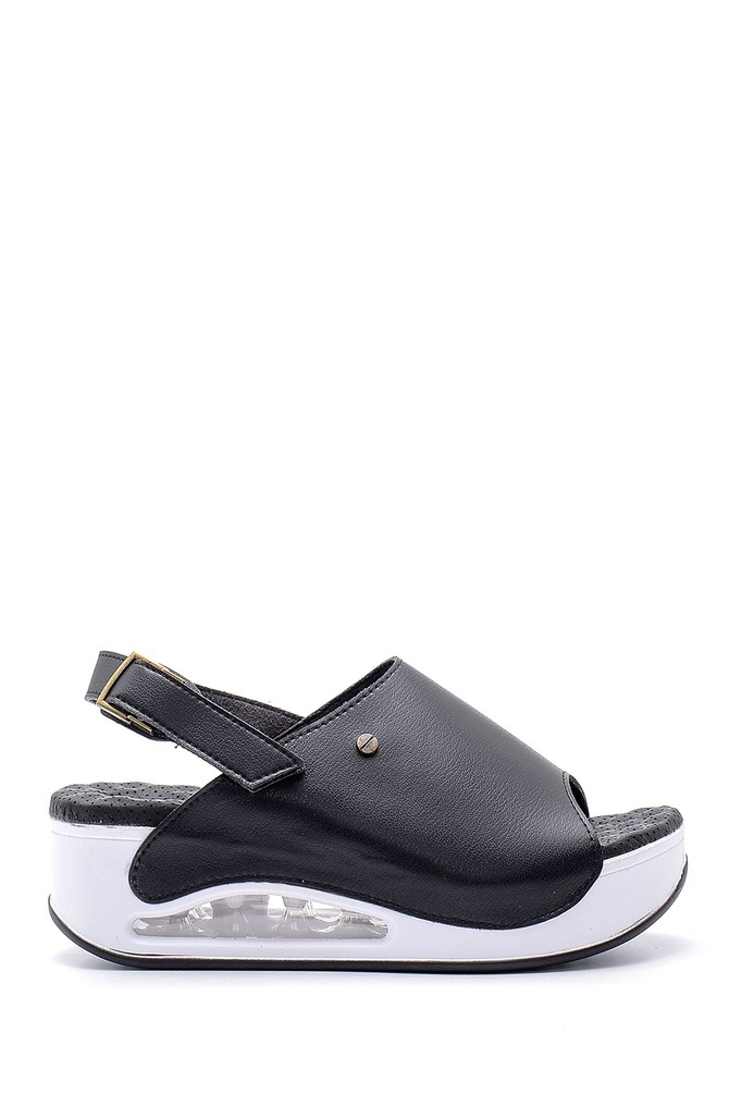 Siyah Kadın Sandalet 5638160344