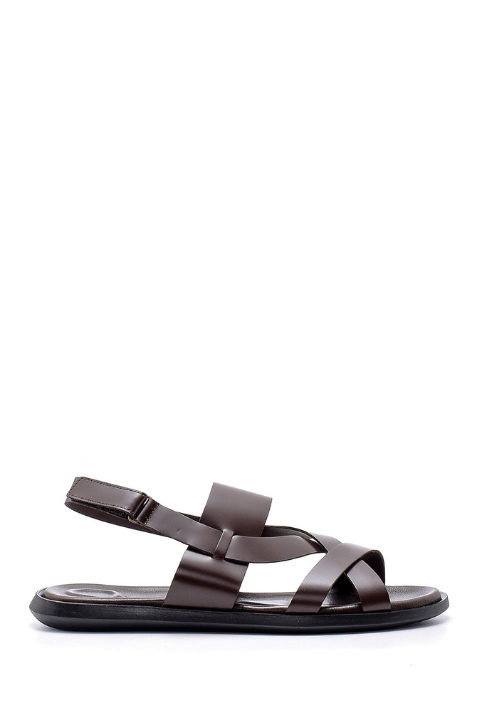 Kahverengi Erkek Deri Sandalet 5638173756