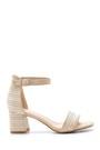5638135786 Kadın Hasır Görünümlü Topuklu Sandalet