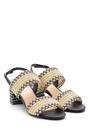 5638136098 Kadın Hasır Topuklu Sandalet
