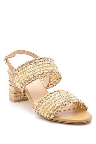 Kadın Hasır Topuklu Sandalet