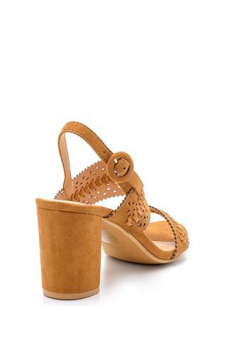 Kadın Süet Topuklu Sandalet
