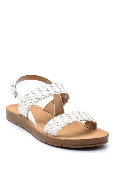 Beyaz Kadın Sandalet 5638126080