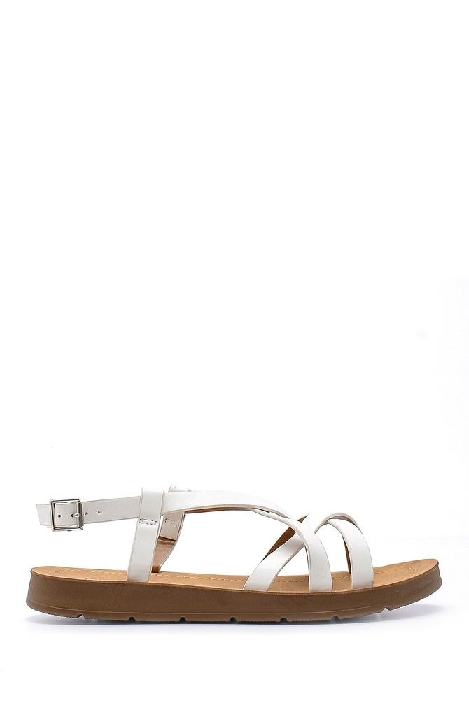 Beyaz Kadın Sandalet 5638126101