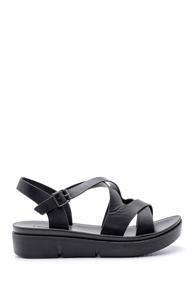 Siyah Kadın Sandalet 5638126311