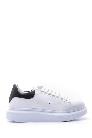 Beyaz Erkek Deri Sneaker 5638178627