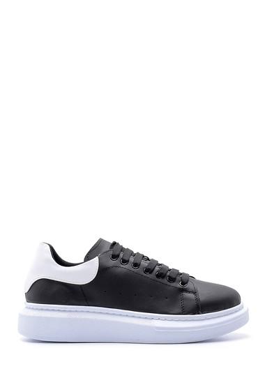 Siyah Erkek Deri Sneaker 5638178633