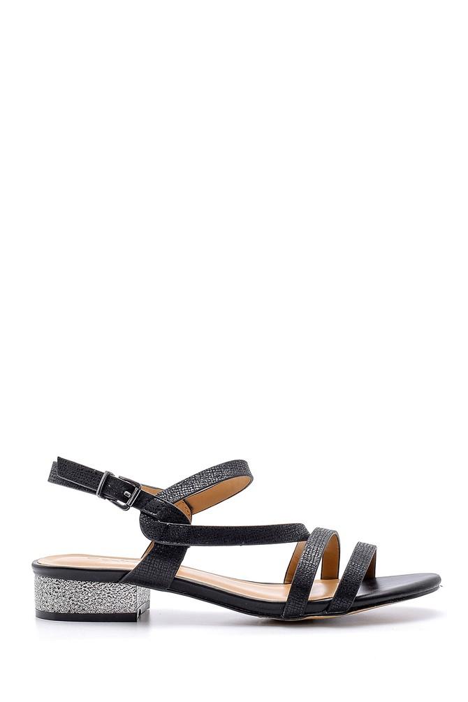 Siyah Kadın Sandalet 5638126059
