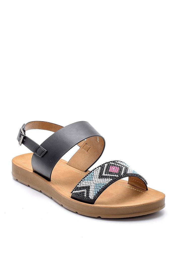 5638126174 Kadın İşlemeli Sandalet