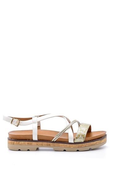 Beyaz Kadın Sandalet 5638138194