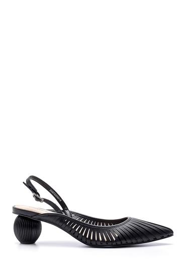 Siyah Kadın Topuk Detaylı Ayakkabı 5638136043