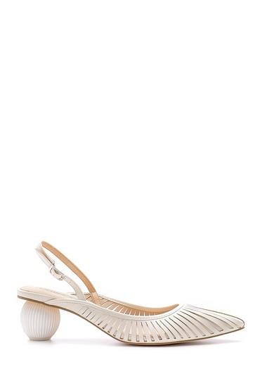 Beyaz Kadın Topuk Detaylı Ayakkabı 5638145260