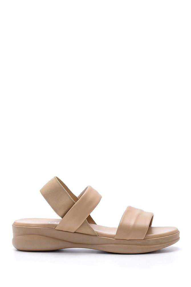 Vizon Kadın Deri Sandalet 5638152796