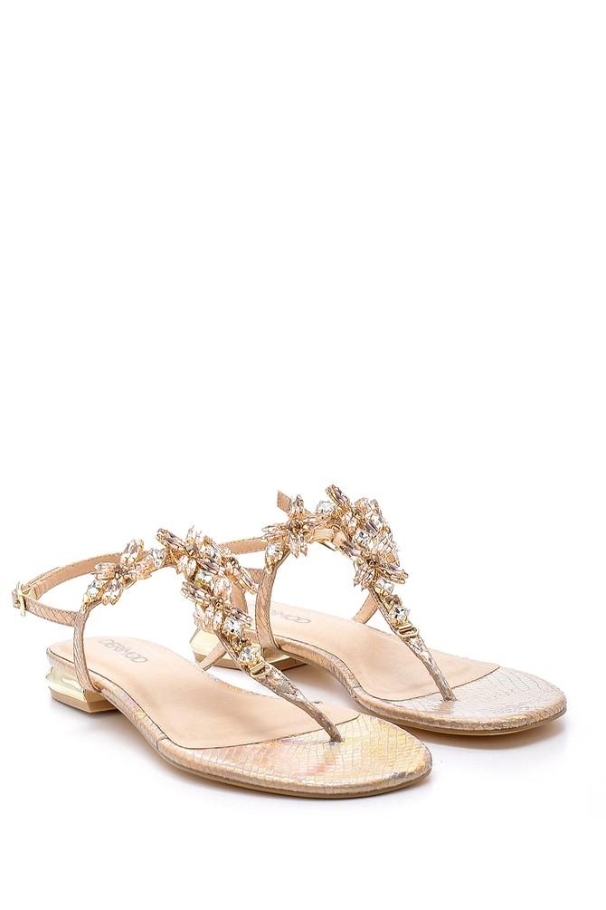 5638135725 Kadın Taşlı Sandalet