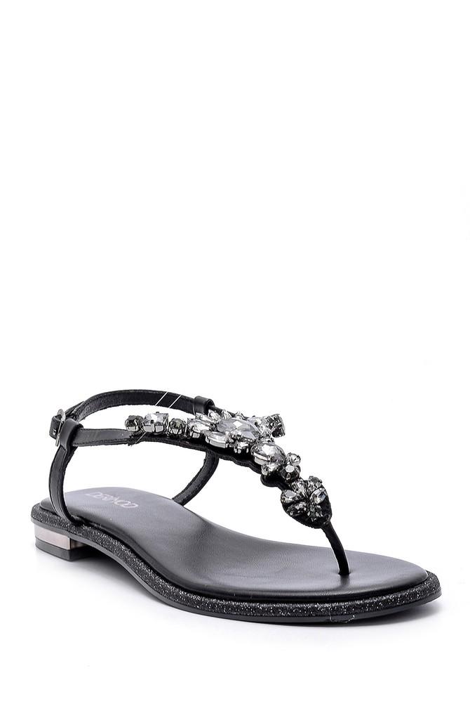 5638125512 Kadın Taşlı Sandalet