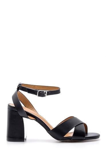 Siyah Kadın Kalın Topuklu Ayakkabı 5638126389