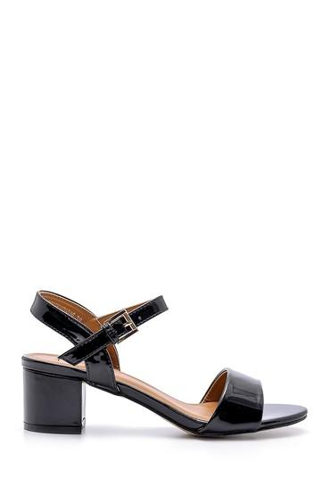 Siyah Kadın Rugan Sandalet 5638126369