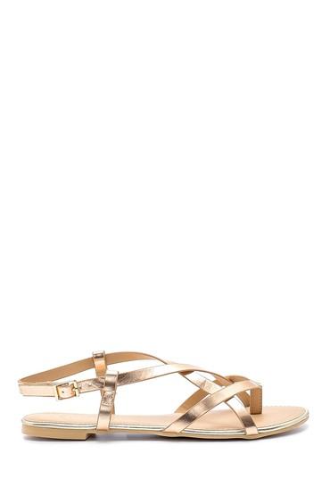 Bej Kadın Metalik Sandalet 5638137375