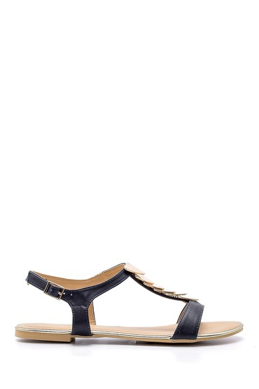Lacivert Kadın Sandalet 5638137462