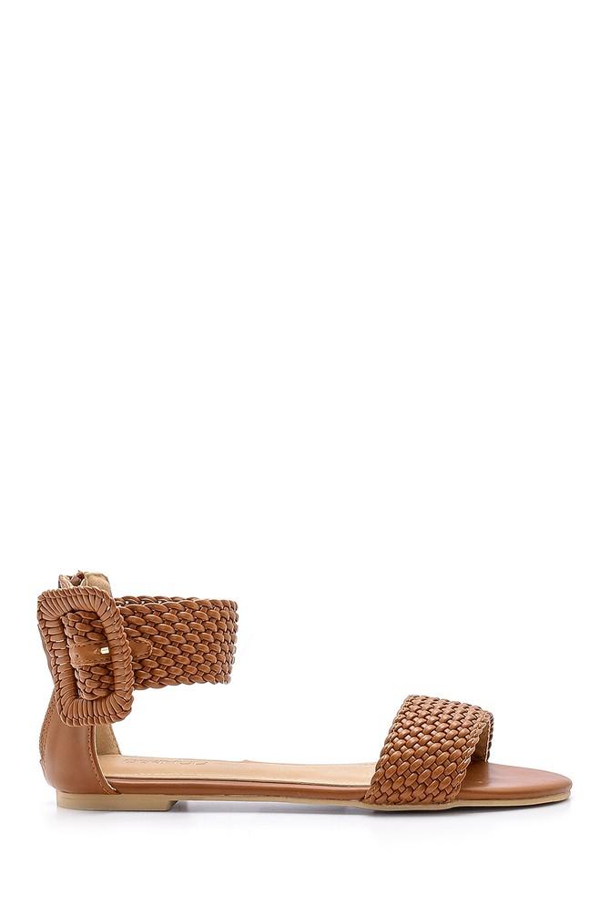 Kahverengi Kadın Toka Detaylı Sandalet 5638137517
