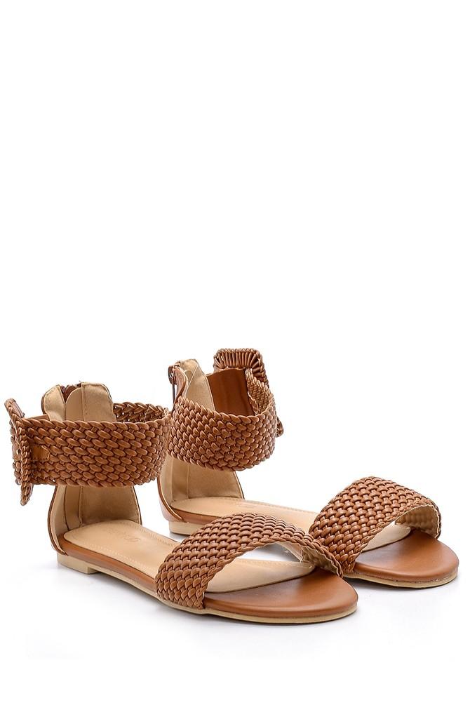 5638137517 Kadın Toka Detaylı Sandalet