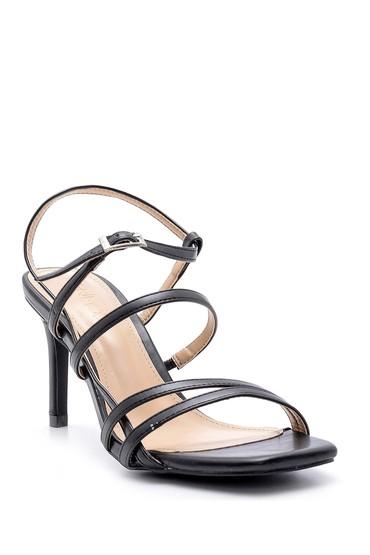 Siyah Kadın Topuklu Sandalet 5638137675