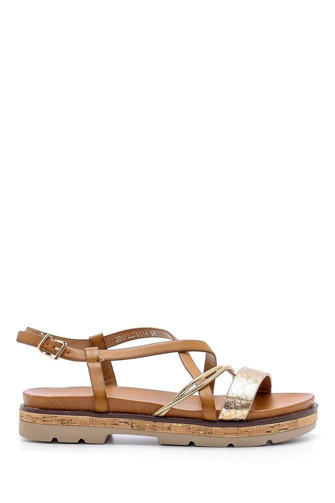 Kahverengi Kadın Sandalet 5638138196