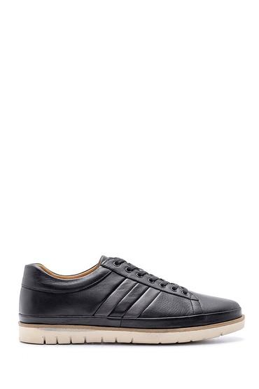 Siyah Erkek Deri Sneaker 5638147057