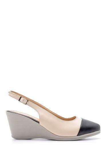 Siyah Kadın Rugan Detaylı Dolgu Topuklu Sandalet 5638121772