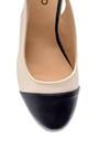5638121772 Kadın Rugan Detaylı Dolgu Topuklu Sandalet
