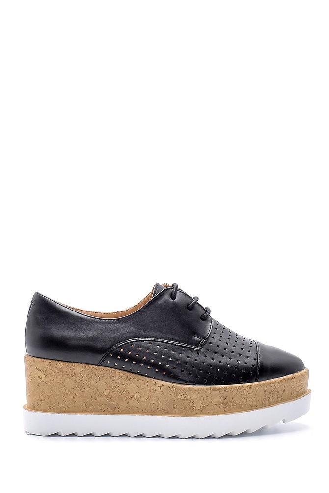 Siyah Kadın Yüksek Tabanlı Ayakkabı 5638123366
