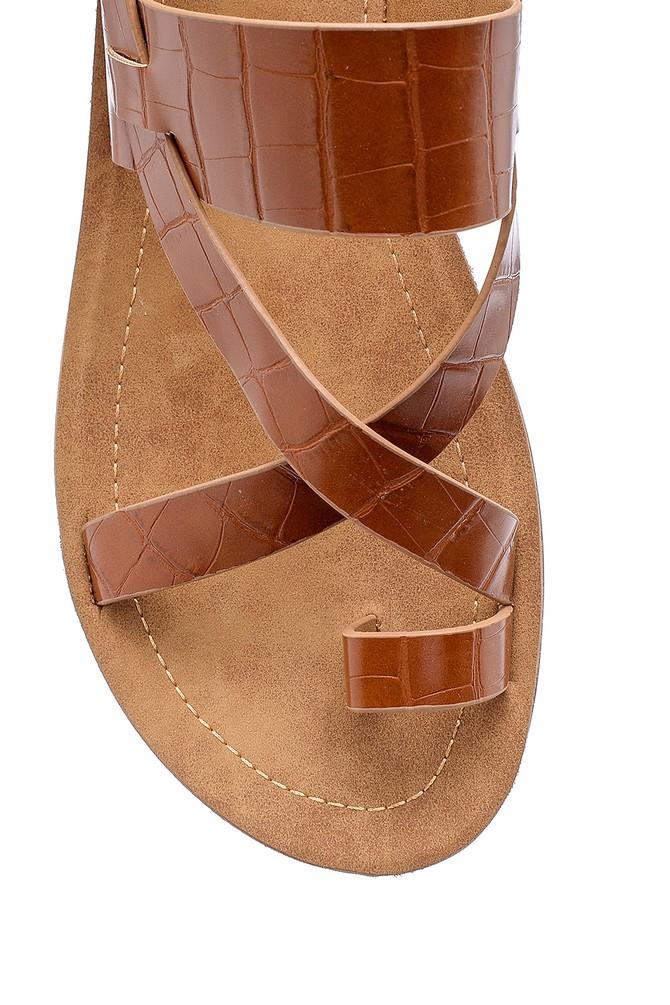 5638132418 Kadın Kroko Desenli Sandalet
