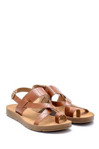 Kadın Kroko Desenli Sandalet