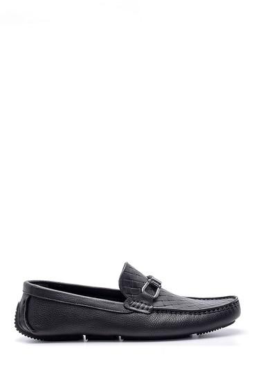 Siyah Erkek Deri Toka Detaylı Loafer 5638155108