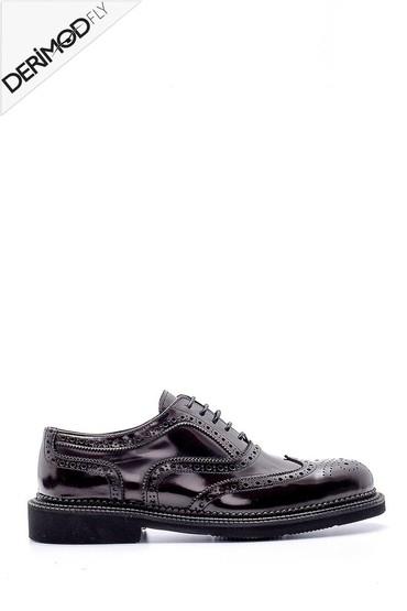 Bordo Erkek Deri Casual Ayakkabı 5638162607