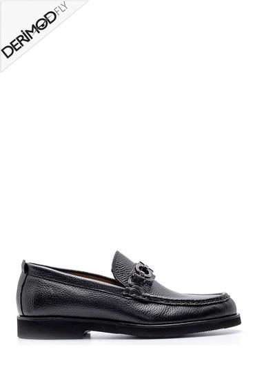 Siyah Erkek Deri Loafer 5638162690