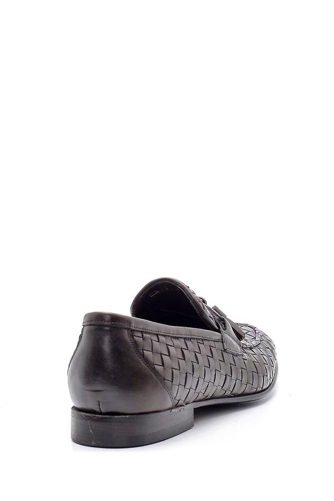 5638162804 Erkek Deri Örgü Desen Loafer