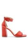 5638162416 Kadın Deri Topuklu Sandalet
