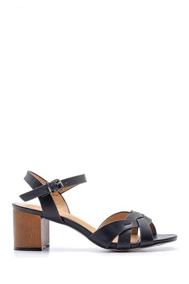 Siyah Kadın Topuklu Sandalet 5638125169
