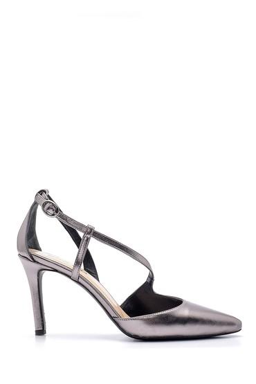 Gri Kadın Topuklu Ayakkabı 5638181911