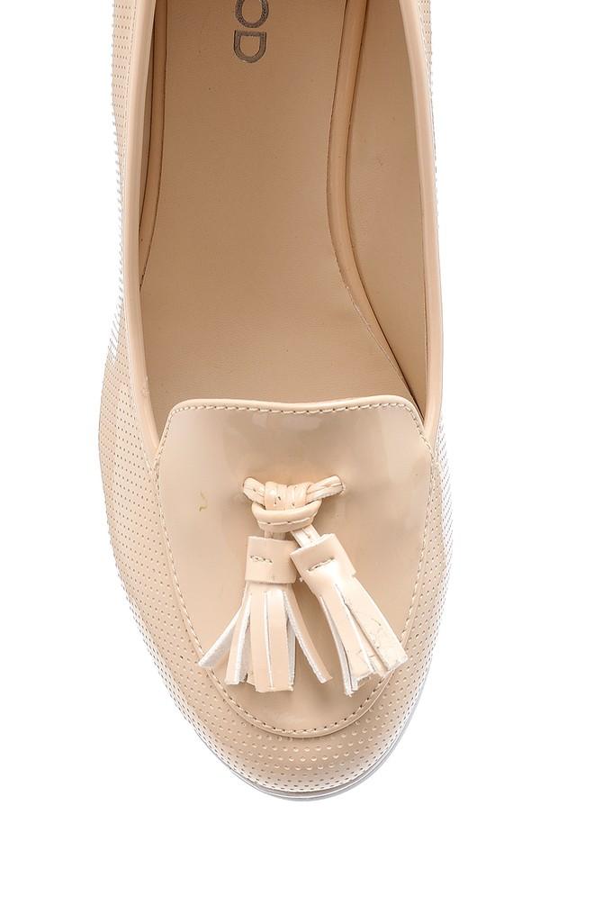 5638192129 Kadın Rugan Dolgu Topuklu Ayakkabı